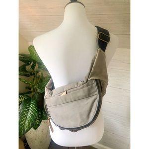 Mossimo Supply Co. gray lace crossbody bag